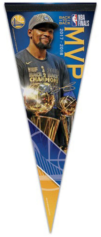 Kevin Durant Golden State Warriors 2018 NBA Finals MVP Commemorative Premium Felt Pennant