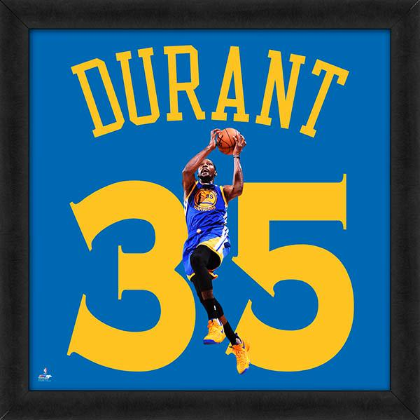 "Kevin Durant ""Number 35"" Golden State Warriors NBA FRAMED 20x20 UNIFRAME PRINT - Photofile"