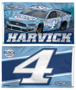 Kevin Harvick NASCAR #4 Ford Mustang Busch Light Huge 3' x 5' 2-Sided DELUXE Banner FLAG - Wincraft 2021