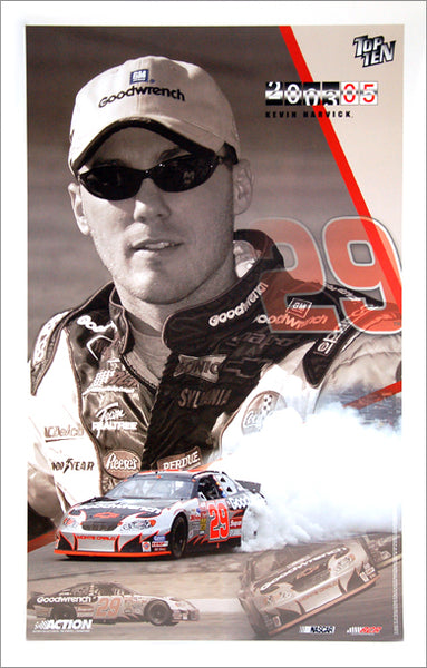 "Kevin Harvick ""Top Ten 2003"" #29 Chevy Monte Carlo Official NASCAR Racing Poster - Action Collectables"