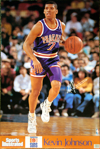 "Kevin Johnson ""Court Captain"" Phoenix Suns Sports Illustrated Poster - Marketcom/S.I. 1990"