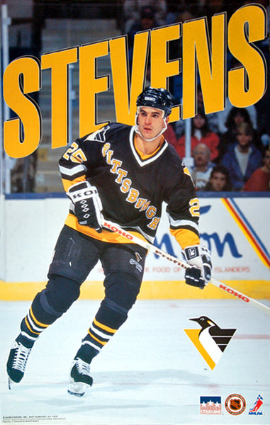 "Kevin Stevens ""Action"" Pittsburgh Penguins NHL Hockey Action Poster - Starline Inc. 1993"