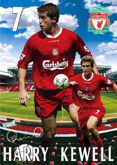 "Harry Kewell ""Anfield Action"" Liverpool FC Poster - GB 2003"