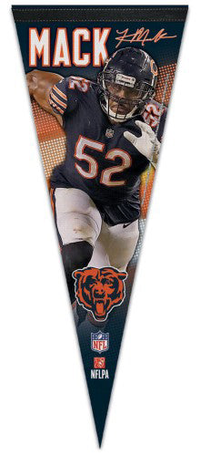 "Khalil Mack ""Signature Series"" Chicago Bears Premium Felt Collector's Pennant - Wincraft 2018"
