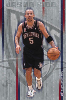 "Jason Kidd ""Control"" New Jersey Nets NBA Action Poster - Costacos 2002"