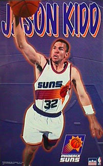 "Jason Kidd ""Dunk"" Phoenix Suns NBA Action Poster - Starline Inc. 1997"