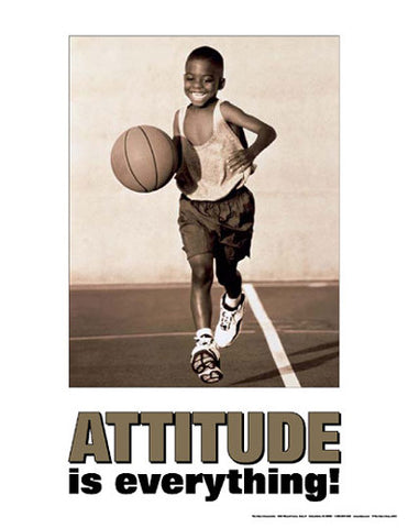 "Boys Basketball ""Attitude is Everything"" Motivational Poster - Fitnus"