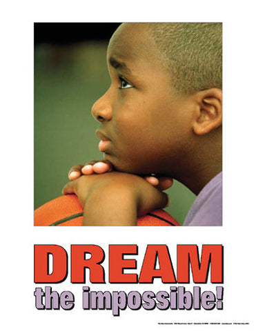 "Boys Basketball ""Dream the Impossible!"" Motivational Poster - Fitnus Corp."