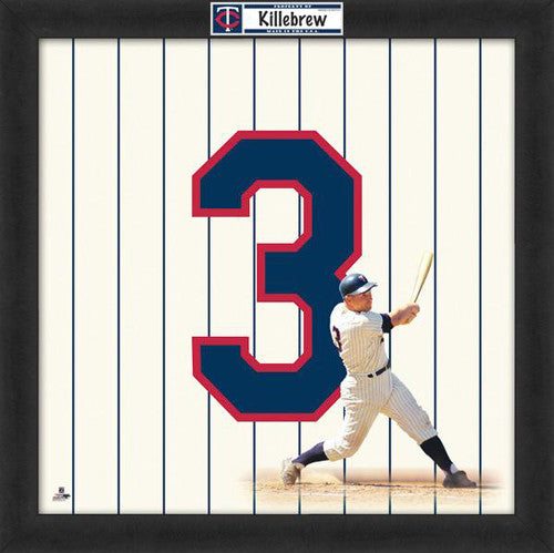 "Harmon Killebrew ""Number 3"" Minnesota Twins MLB FRAMED 20x20 UNIFRAME PRINT - Photofile"