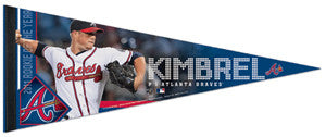 "Graig Kimbrel ""Braves Action/ROY"" Premium Felt Collector's Pennant - Wincraft"