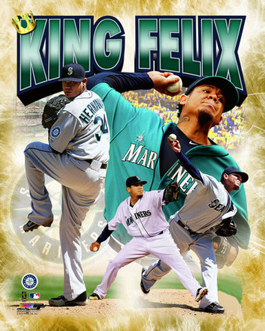 "Felix Hernandez ""King Felix"" Seattle Mariners Premium Poster Print - Photofile 16x20"