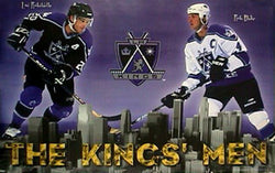 "Los Angeles Kings ""The Kings' Men"" Poster (Luc Robitaille, Rob Blake) - Costacos 1998"