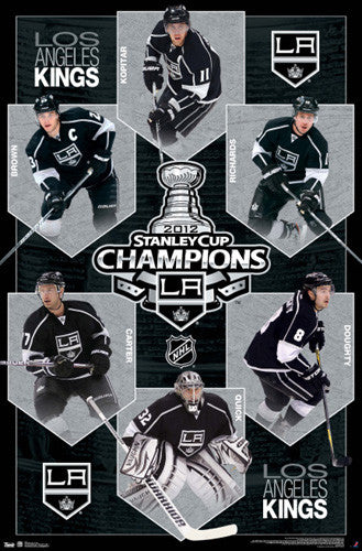 L.A. Kings 2012 Stanley Cup Champions 6-Player Commemorative Poster - Costacos Sports