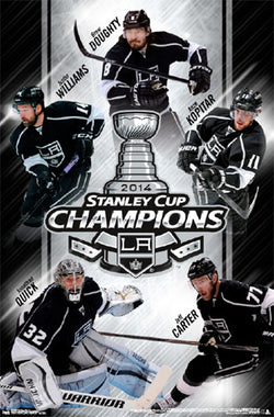 L.A. Kings 2014 Stanley Cup Champions Commemorative Wall Poster - Costacos