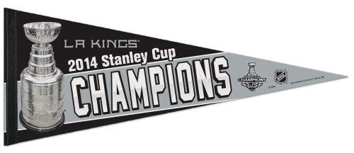 L.A. Kings 2014 Stanley Cup Champions Commemorative Premium Felt Pennant - Wincraft