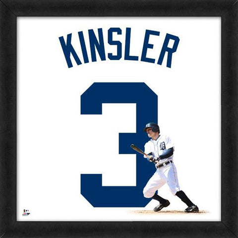 "Ian Kinsler ""Number 3"" Detroit Tigers FRAMED 20x20 UNIFRAME PRINT - Photofile"