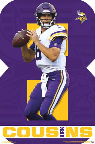 "Kirk Cousins ""Great 8"" Minnesota Vikings NFL QB Action Poster - Trends International"