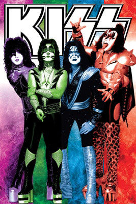 "Kiss ""Colors"" Rock Band Music Group Poster - Aquarius Images"