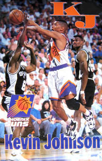 "Kevin Johnson ""Action"" Phoenix Suns Poster - Starline 1994"