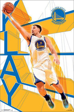 "Klay Thompson ""Rising"" Golden State Warriors Official NBA Basketball Wall Poster - Trends International"