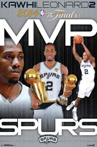 "Kawhi Leonard ""MVP"" 2014 San Antonio Spurs Commemorative Poster - Costacos Sports"