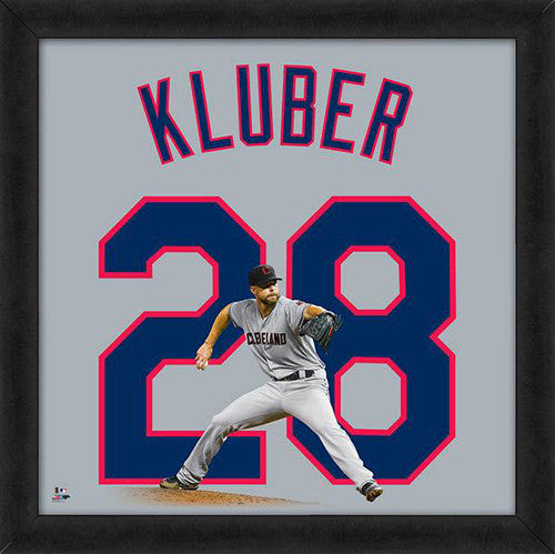 "Corey Kluber ""Number 28"" Cleveland Indians FRAMED 20x20 UNIFRAME PRINT - Photofile"