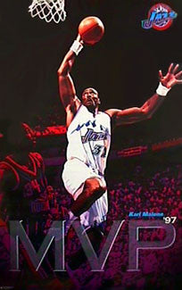 Karl Malone 1996-97 NBA MVP Utah Jazz NBA Action Poster - Costacos Sports