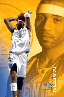 "Kenyon Martin ""Golden Slam"" Denver Nuggets NBA Action Poster - Costacos 2005"