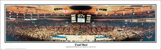 "New York Knicks ""Foul Shot"" (1992) Panoramic Poster Print - Everlasting Images"