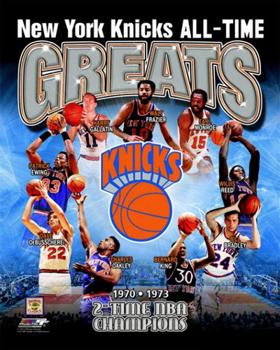 "New York Knicks ""All-Time Greats"" (9 Legends) Premium Poster Print - Photofile Inc"