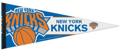 New York Knicks Official NBA Basketball Team Logo Premium Felt Pennant - Wincraft 2015