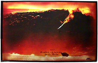 Taylor Knox at Todos Santos 52.5' Wave Classic Surfing Poster - No Fear 1998