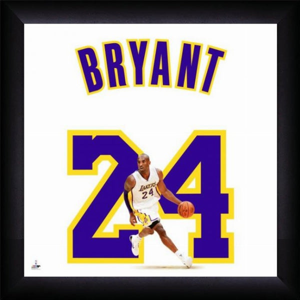 "Kobe Bryant ""Number 24"" Los Angeles Lakers FRAMED 20x20 UNIFRAME PRINT - Photofile"