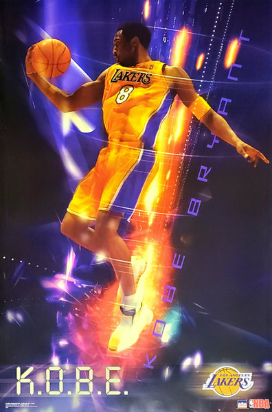 "Kobe Bryant ""Blast Off"" L.A. Lakers NBA Action Poster - Starline 2003"