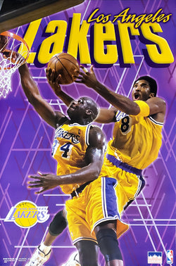 "Kobe Bryant and Shaquille O'Neal ""Showtime"" Los Angeles Lakers Poster - Starline 1999"