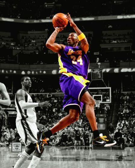 "Kobe Bryant ""Iconic Jump Shot"" Los Angeles Lakers Premium NBA Spotlight-Edition Poster Print - Photofile 20x24"