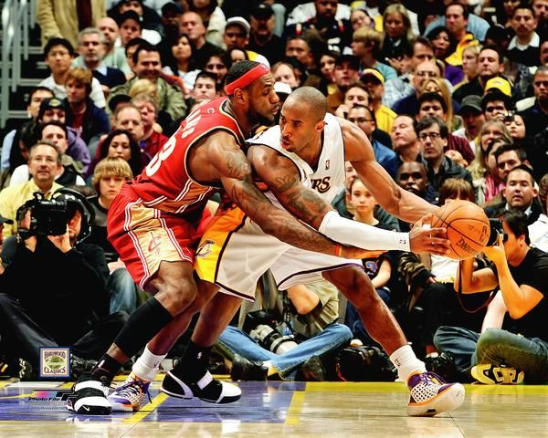 Kobe Bryant vs. LeBron James Lakers vs. Cavaliers Premium NBA Basketball Poster Print - Photofile Inc.