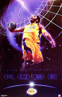 "Kobe Bryant ""One Giant Step"" L.A. Lakers NBA Action Poster - Starline 2001"