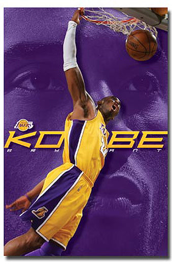 "Kobe Bryant ""Superslam"" L.A. Lakers NBA Action Poster - Costacos 2008 - LAST ONE"