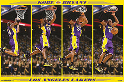 "Kobe Bryant ""Stop-Action Slam"" L.A. Lakers Official NBA Poster - Costacos 2013"