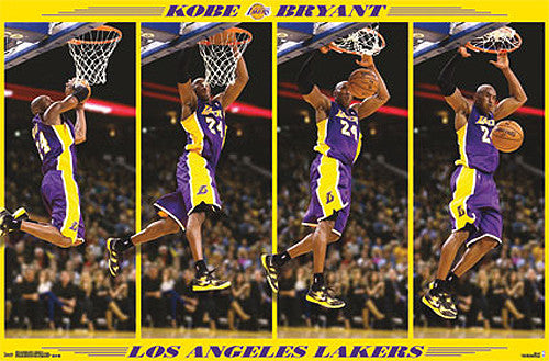 "Kobe Bryant ""Stop-Action Slam"" L.A. Lakers Official NBA Basketball Poster"