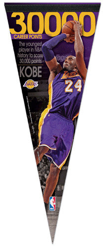 "Kobe Bryant ""Youngest to 30000"" Premium Felt Commemorative Pennant - Wincraft Inc."