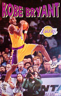 "Kobe Bryant ""Rookie"" L.A. Lakers Poster - Starline 1997"