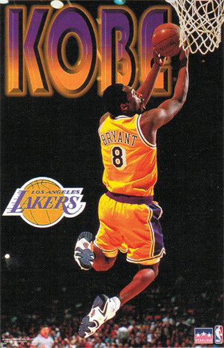 "Kobe Bryant ""Reverse"" L.A. Lakers Poster - Starline 1998"