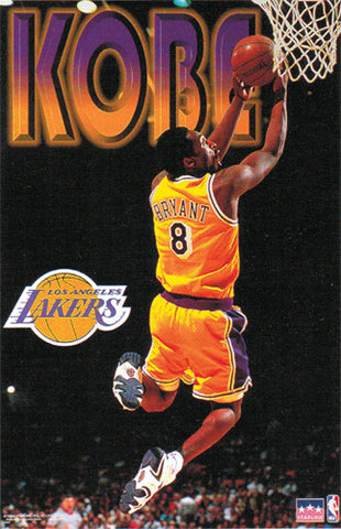 Kobe Bryant Reverse L A Lakers Poster Starline 1998 Sports Poster Warehouse