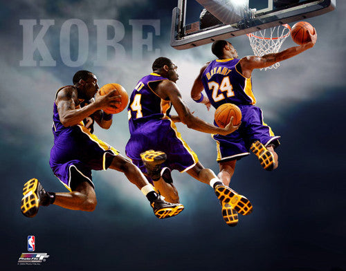 "Kobe Bryant ""Triple-Exposure"" L.A. Lakers Premium Poster Print - Photofile 16x20"