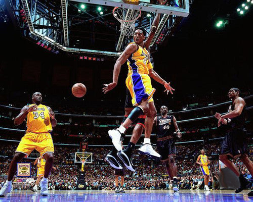 Kobe Bryant with Shaquille O'Neal 2001 NBA Finals Premium Poster Print - Photofile Inc.
