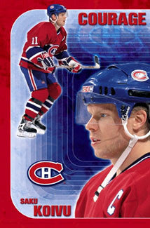"Saku Koivu ""Courage"" Montreal Canadiens Poster - Costacos 2002"