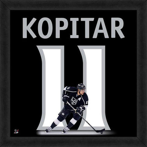"Anze Kopitar ""Number 11"" Los Angeles Kings NHL FRAMED 20x20 UNIFRAME PRINT - Photofile"