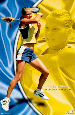 "Anna Kournikova ""Superstar"" WTA Tennis Action Poster - Costacos 2000"